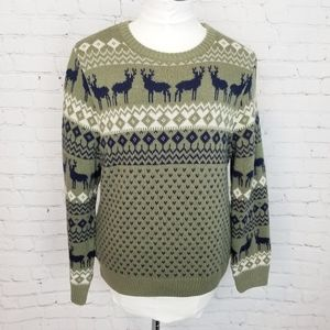 Modcloth|Pretty Vacant Reindeer Knit Pullover Swea